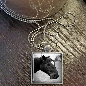 Horse Square Pendant